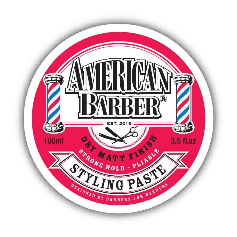 American Barber Styling Paste 100ml - Click to enlarge