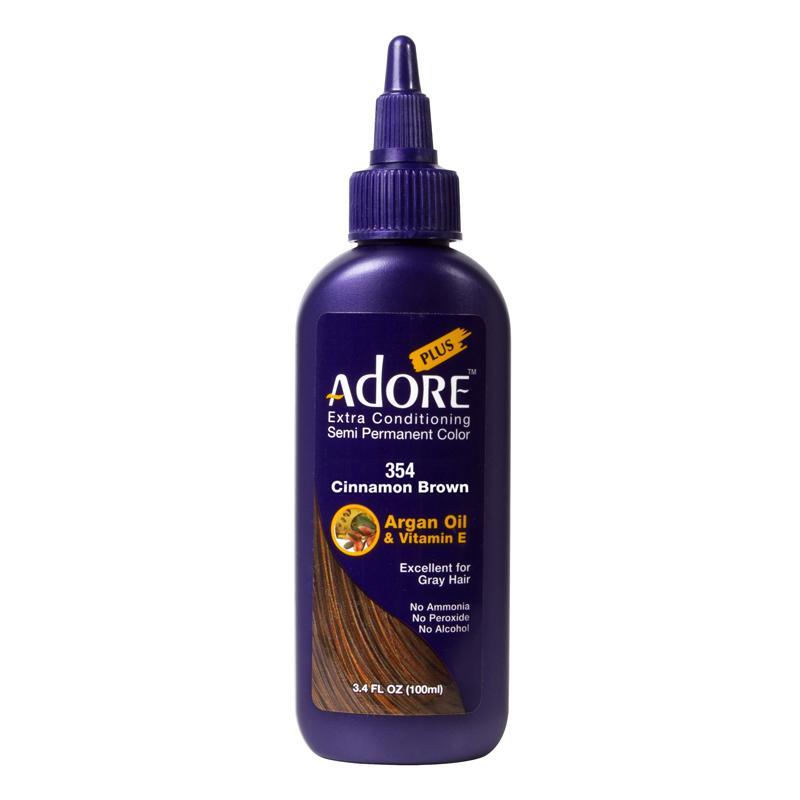 Adore Plus Semi Permanent Hair Color Cinnamon Brown 354 Hair