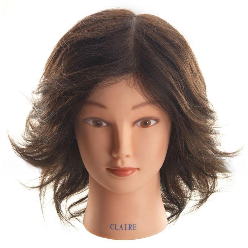 Hi Lift Mannequin Head Claire Short Wavy 25 30cm