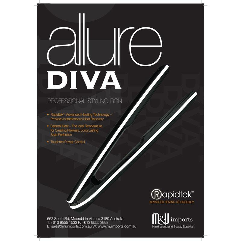 Diva Allure Professional Styling Iron Black Free Delivery
