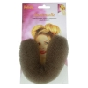 Hair Sausage Medium Brown 18cm 100966 - Click for more info