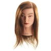 Hi Lift Mannequin Head Anita - Long Brown (40-45cm) - Click for more info