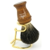 Wooden Handle with Stand  100% Pure Badger Bristles - Click for more info