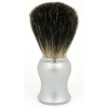 Matt Silver Handle  100% Pure Bristles - Click for more info