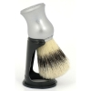 Matt Silver Handle with Stand  100% Pure Bristles - Click for more info